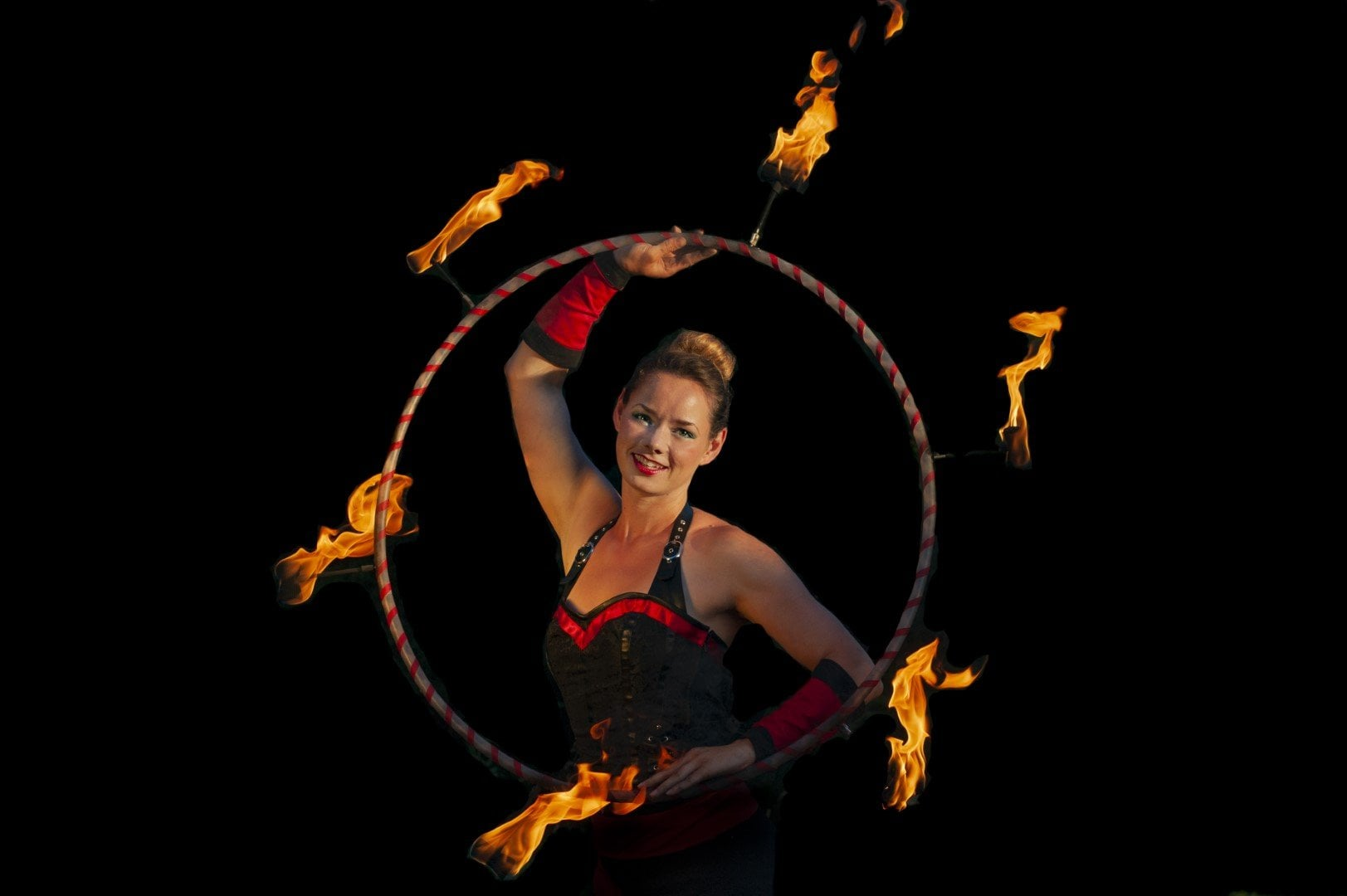 Fire Hula Hoop Performer