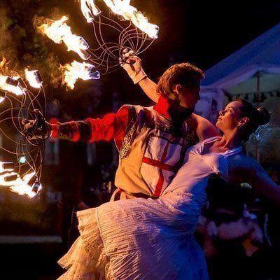 Love Themed Fire Show